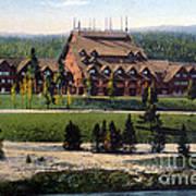 Old Faithful Inn Yellowstone Np 1928 Art Print