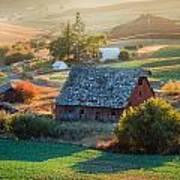 Old Farm In Eastern Washington Art Print