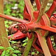 Old Farm Tractor Wheel Art Print