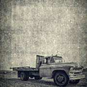 Old Farm Truck Cover Art Print