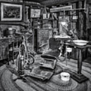 Old Fashioned Dentist Office Bw Art Print
