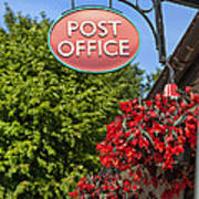 Old Fashioned Post Office Sign Art Print