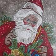 Old Fashioned Santa Art Print