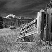 Old Fence At Mount Lassen Art Print
