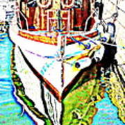 We Will Soon Go Away With The Old Ferry  Art Print