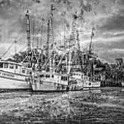 Old Fishing Boats Art Print
