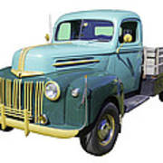 Old Flat Bed Ford Work Truck Art Print