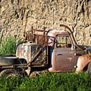 Old Flatbed International Truck Art Print