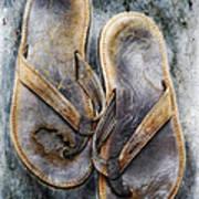 Old Flip Flops Art Print