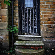 Old Forgotten Black Front Door Art Print