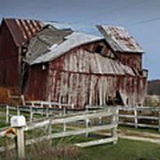 Old Forlorn Decrepid Wooden Barn Art Print