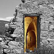 Old Fort Through The Magic Door Art Print