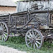 Old Freight Wagon - Montana Territory Art Print