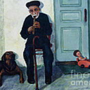 Old Friends And A Flute Art Print