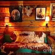 Old Frontier Cabin Art Print
