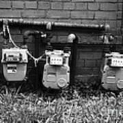 Old Gas Meters Art Print