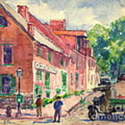 Old Georgetown Dc 1910 Art Print