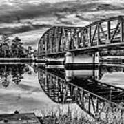 Old Georgia Florida Bridge Art Print
