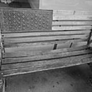 Old Glory Bench In Philadelphia Art Print