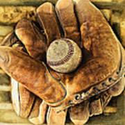Old Gloves Art Print