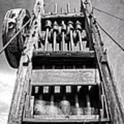 Old Gold Mine Technology In Black And White Art Print