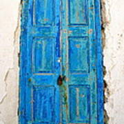 Old Greek Shutter Art Print