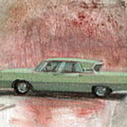 Old Green Car Art Print