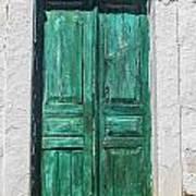 Old Green Door Art Print