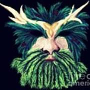 Old Green Man Winter Art Print