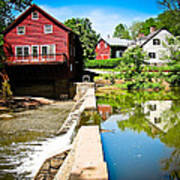 Old Grist Mill  Art Print by Colleen Kammerer