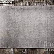 Old Grunge Plywood Board On A Wooden Wall Art Print