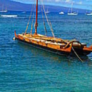 Old Hawaiian Sailboat Art Print