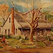 Old Home  Art Print by Lynn Beazley Blair