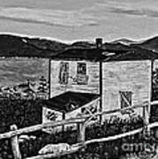 Old House - Memories - Shutters And Boards Art Print