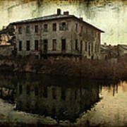 Old House On Canal Art Print