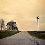 Old House On Country Road Art Print