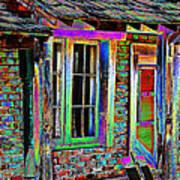 Old House Pop Art Art Print