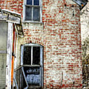 Old House Two Windows 13104 Art Print
