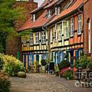 Old Houses At Johannes Kloster Stralsund Art Print by David Davies