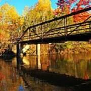 Historic Harvey Bridge Over Manistee River In Wexford County Michigan Art Print