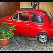 Old Italian Car Fiat 500  Art Print