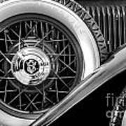 Old Jag In Black And White Art Print
