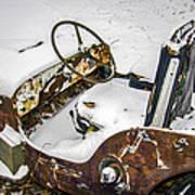 Old Jeep - New Snow Art Print