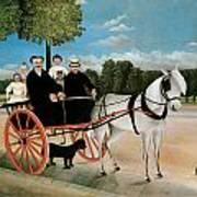 Old Junier's Cart Art Print by Henri Rousseau