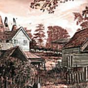 Old Kentish Oasts Art Print