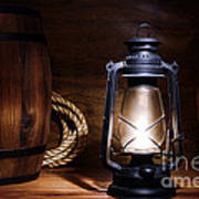 Old Kerosene Lantern Print by Olivier Le Queinec
