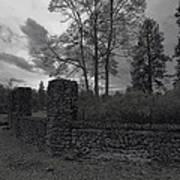 Old Liberty Park Ruins In Spokane Washington Art Print