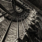 Old Lighthouse Stairway Art Print