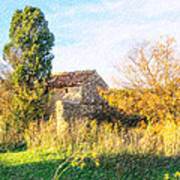 Old Little Stones House In Provence Art Print