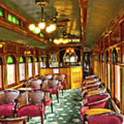 Old Lounge Car From Early Railroading Days Art Print